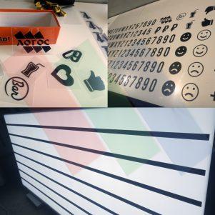 Изготовление светового короба (табло) с наборным текстом и символами