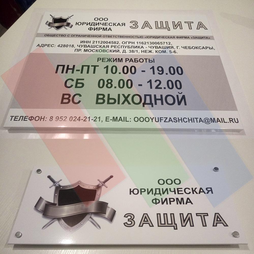 Изготовление таблички и режима работы Защита