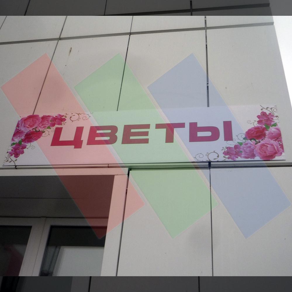 Недорогая вывеска для цветочного магазина в СЗР г. Чебоксары